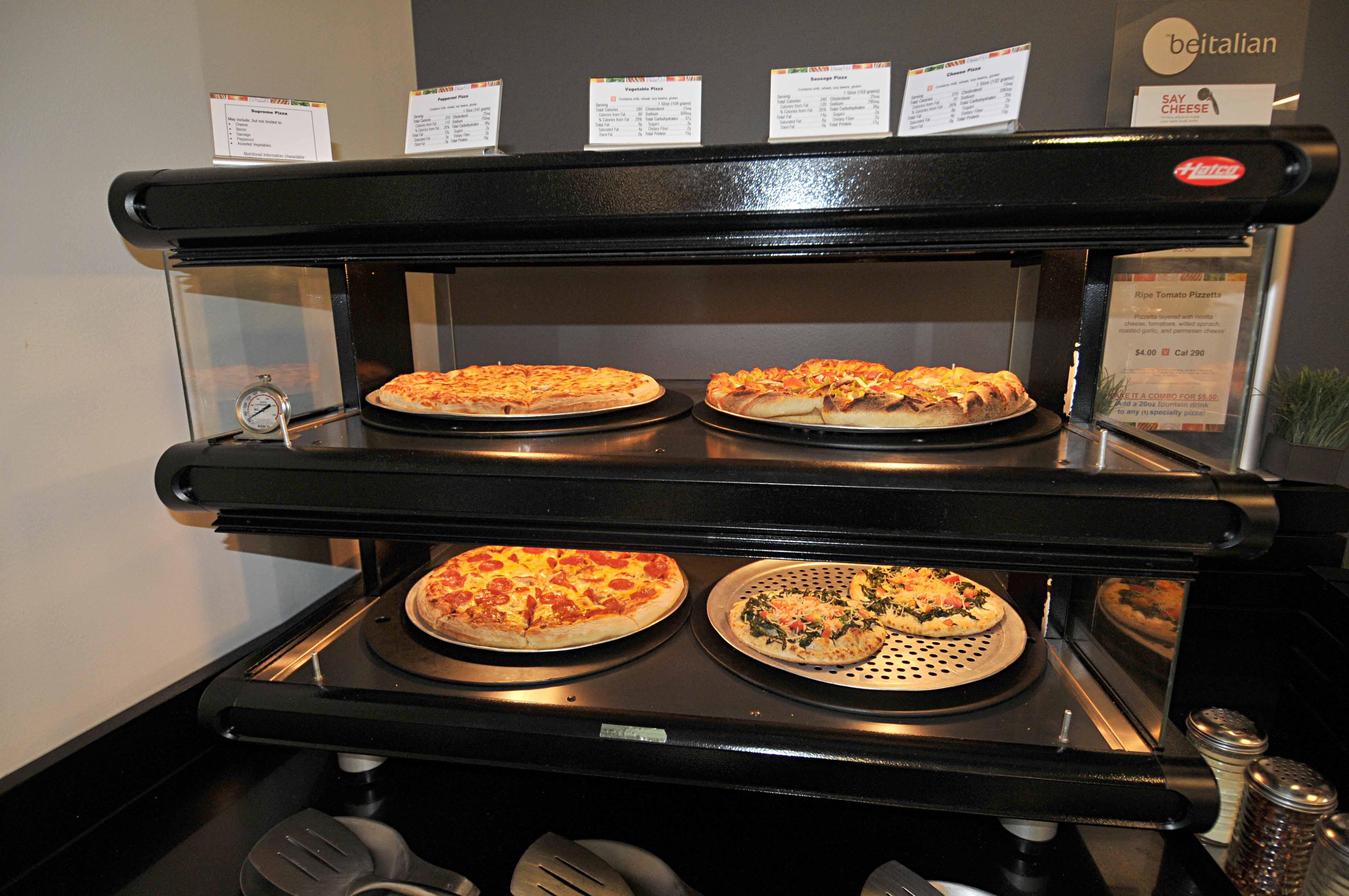 Pizza at the HQC Cafe