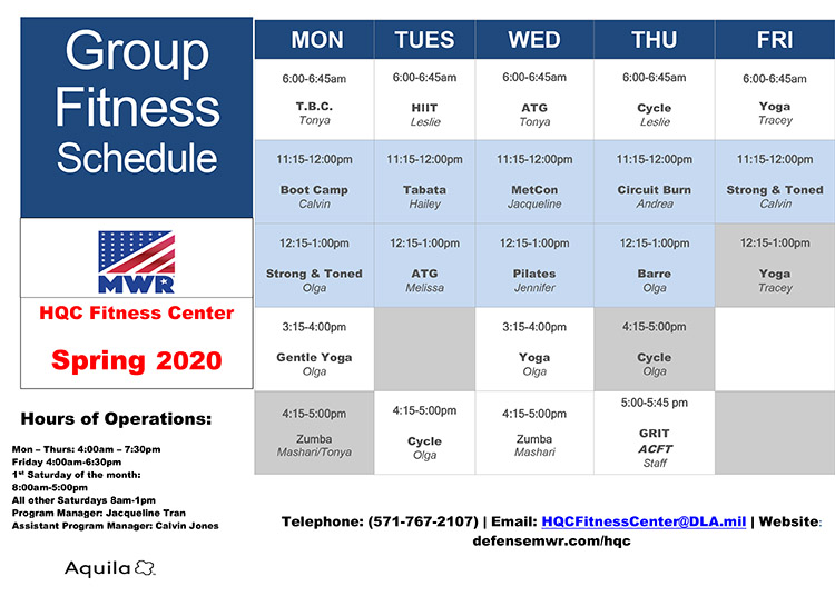 Spring 2020 Group X Schedule-1