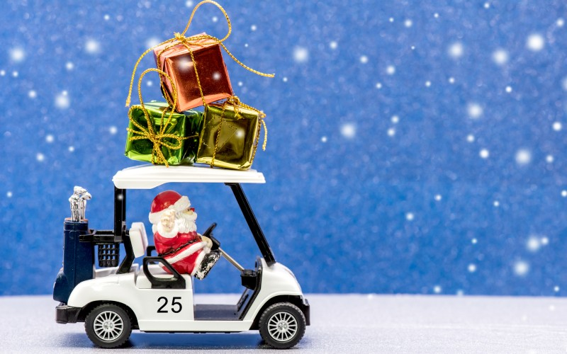 Golf cart santa presents_800x500